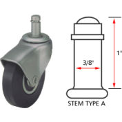Algood Hooded Type Series Chair Caster with Soft Rubber Wheel S722375SX12SR - Stem Type A