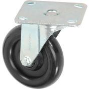 "Medium Duty Swivel Plate Caster 3-1/2"" Hard Rubber Wheel 275 Lb. Capacity"