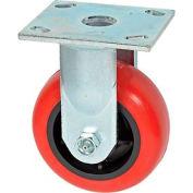 "Faultless Rigid Plate Caster 3498-5 5"" Polyurethane Wheel"