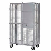 """Global Industrial™ Fold-Up Security Truck, 27""""W x 44-1/3""""L x 76""""H, 2000 Lb. Capacity, Gray"""