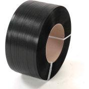 """Polypropylene Strapping 1/2"""" x .018"""" x 9,000' Black 16"""" x 6"""" Core"""