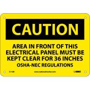 """Signalisation de sécurité - attention zone - rigide en plastique 7"""" H X 10"""" W"""