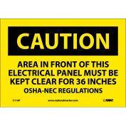 """Signalisation de sécurité - attention zone - vinyle 7"""" H X 10"""" W"""