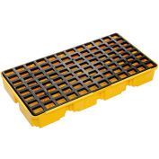 Eagle 1632 2 Drum Spill Containment Platform - Yellow with No Drain