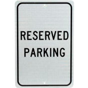 "Aluminum Sign - Reserved Parking - .08"" Thick, TM5J"