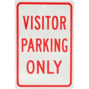 "Aluminum Sign - Visitor Parking Only - .063"" Thick, 932136"