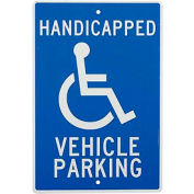 "Aluminum Sign - Handicapped Vehicle Parking - .063"" Thick, TM10H"