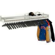 Garment Wall Rack Includes 30 Hangers