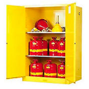 Justrite Flammable Cabinet With Manual Close Double Door 90 Gallon