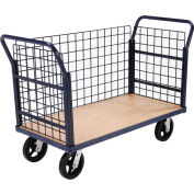 Euro Truck With 3 Wire Sides & Wood Deck 48 x 24 2400 Lb. Capacity