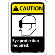 "Graphic Signs - Caution Eye Protection Required - Plastic 7""W X 10""H"
