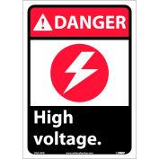 """Signes graphiques - Danger haute tension - vinyle 10"""" W X 14"""" H"""