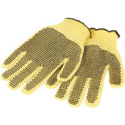 Perfect Fit Medium Weight Double-Sided PVC Dots Kevlar® Gloves, Ladies' Size, 1 Pair