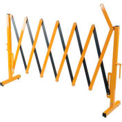 """Steel Portable Barricade Gate, Retracted/Extended Length 15"""" - 139"""""""