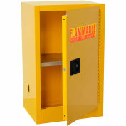 "Global™ Compact Flammable Cabinet - 12 Gallon Manual Close Single Door - 23""W x 18""D x 35""H"