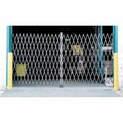 Double Folding Security Gate 10'W x 6-1/2'H