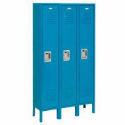 Infinity™ Locker Single Tier 12x18x60 3 Door Assembled Blue