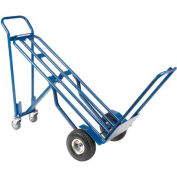 Global Industrial™ Steel 3-in-1 Convertible Hand Truck with Pneumatic Wheels 600 Lb. Capacity