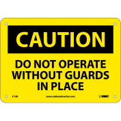 """Safety Signs - Caution Do Not Operate - Rigid Plastic 7""""H X 10""""W"""