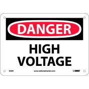 """Signe de sécurité - Danger haute tension - rigide en plastique 7"""" H X 10"""" W"""