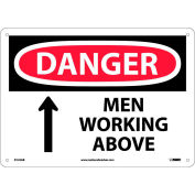 Safety Signs - Danger Men Working Above - Aluminum