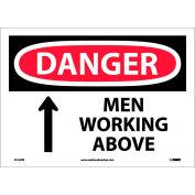 "Safety Signs - Danger Men Working Above - Vinyl 10""H X 14""W"