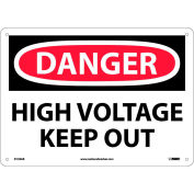 Safety Signs - Danger High Voltage Keep Out - Aluminum