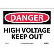 """Signe de sécurité - Danger haute tension tenir hors - vinyle 7"""" H X 10"""" W"""