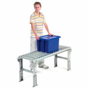 "Omni Metalcraft 1-3/8"" Dia. Aluminum Roller Conveyor Straight Section RAHS1.4-24-1.5-10"