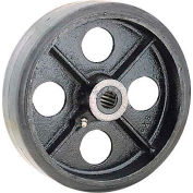 "8"" x 2"" Mold-On Rubber Wheel - Axle Size 1/2"""