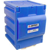 "Justrite 2 x 4 Liter Bottle,1 Door, Countertop, Poly, Acid Storage Cabinet,14-1/4""x 16-1/4""x 19-1/2"""