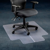"Office Chair Mat for Carpet - 36""W x 48""L  with 20"" x 10"" Lip - Straight Edge"