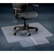 "Office Chair Mat for Carpet - 45""W x 53""L with 25"" x 12"" Lip - Straight Edge"