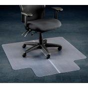 Dessous de fauteuil de bureau pour tapis, 45 po l x 53 po L avec bordure de 25 po x 12 po, bord droit
