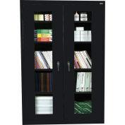 Sandusky Clear View Storage Cabinet EA4V461872 - 46x18x72, Black