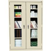 Sandusky Clear View Storage Cabinet EA4V461872 - 46x18x72, Putty
