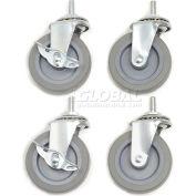 """Global Industrial™ Caster Set For Shop Desks - 3"""" Swivel with Locks"""