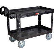 "Rubbermaid® 4546-10 Tray Shelf Plastic Service Cart 54x25 8"" Casters"