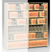 Imperial Shelving Add-On 48x24x76 - 6 Openings Sand