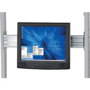 """Global Industrial™ Flat Panel Monitor Track For 24"""" LAN Station"""