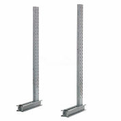 "Cantilever Rack Single Sided Upright (1000 Series), 57"" D x 8' H, 3200 Lbs Capacity"
