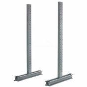 """Piétement luge Rack Double face verticale (série 1000), 102"""" D x 10' H, 6200 Lbs capacité"""