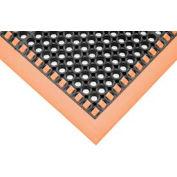 """SafetyTruTred™ Hi-Vis Drainage Mat, 4-Sided Border, 7/8"""" Thick, 40""""x52"""", Black/Orange"""