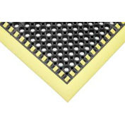 "SafetyTruTred™ Hi-Vis Drainage Mat, 4-Sided Border, 7/8"" Thick, 40""x52"", Black/Yellow"