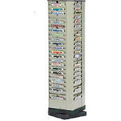 Interion® 92 Pocket Revolving Literature Rack Tan