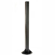 "81""H Floor Mount Orbit Steel Post - Black"