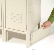 """End Base For 18""""D X 6""""H Tan Locker Pair (Left And Right)"""