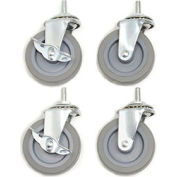 "Caster Set For Shop Desks - 3"" Swivel with Locks"