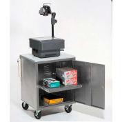 Global Industrial® Gray Security Audio Visual Cart 500 Lb. Capacity