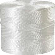 Ficelle de liaison au polypropylène, 1 plis, 10500'L, 110 lb Résistance à la traction, blanc